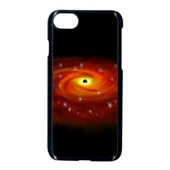 Space Galaxy Black Sun Apple Iphone 7 Seamless Case (black) by Mariart