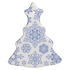 Snowflakes Blue White Cool Ornament (christmas Tree)  by Mariart