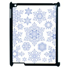 Snowflakes Blue White Cool Apple Ipad 2 Case (black) by Mariart
