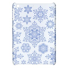 Snowflakes Blue White Cool Apple Ipad Mini Hardshell Case by Mariart