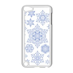 Snowflakes Blue White Cool Apple Ipod Touch 5 Case (white) by Mariart