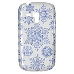 Snowflakes Blue White Cool Galaxy S3 Mini by Mariart