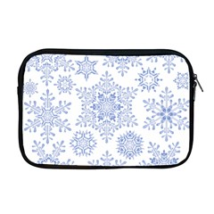Snowflakes Blue White Cool Apple Macbook Pro 17  Zipper Case by Mariart