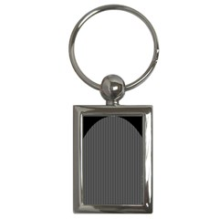 Space Line Grey Black Key Chains (rectangle)
