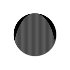 Space Line Grey Black Magnet 3  (round) by Mariart