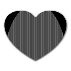 Space Line Grey Black Heart Mousepads by Mariart
