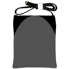 Space Line Grey Black Shoulder Sling Bags by Mariart