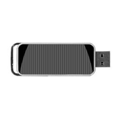 Space Line Grey Black Portable Usb Flash (two Sides) by Mariart