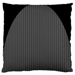 Space Line Grey Black Standard Flano Cushion Case (two Sides) by Mariart