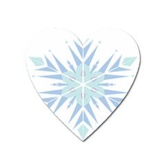 Snowflakes Star Blue Triangle Heart Magnet by Mariart