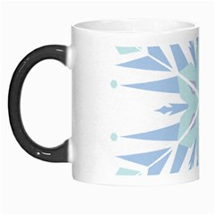 Snowflakes Star Blue Triangle Morph Mugs by Mariart