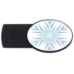 Snowflakes Star Blue Triangle Usb Flash Drive Oval (4 Gb) by Mariart