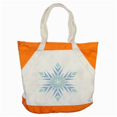 Snowflakes Star Blue Triangle Accent Tote Bag by Mariart