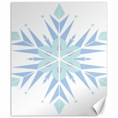 Snowflakes Star Blue Triangle Canvas 8  X 10  by Mariart