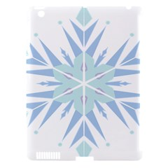 Snowflakes Star Blue Triangle Apple Ipad 3/4 Hardshell Case (compatible With Smart Cover) by Mariart
