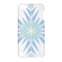 Snowflakes Star Blue Triangle Apple Ipod Touch 5 Hardshell Case by Mariart