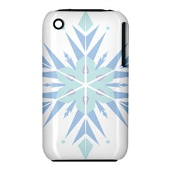 Snowflakes Star Blue Triangle Iphone 3s/3gs by Mariart