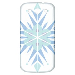 Snowflakes Star Blue Triangle Samsung Galaxy S3 S Iii Classic Hardshell Back Case by Mariart