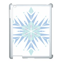 Snowflakes Star Blue Triangle Apple Ipad 3/4 Case (white) by Mariart