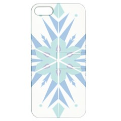 Snowflakes Star Blue Triangle Apple Iphone 5 Hardshell Case With Stand by Mariart