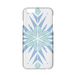 Snowflakes Star Blue Triangle Apple Iphone 6/6s Hardshell Case by Mariart