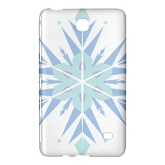 Snowflakes Star Blue Triangle Samsung Galaxy Tab 4 (8 ) Hardshell Case  by Mariart