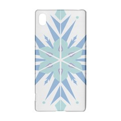 Snowflakes Star Blue Triangle Sony Xperia Z3+ by Mariart
