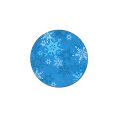 Snowflakes Cool Blue Star Golf Ball Marker (4 Pack) by Mariart