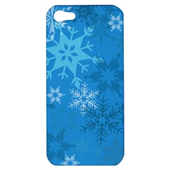 Snowflakes Cool Blue Star Apple Iphone 5 Hardshell Case by Mariart