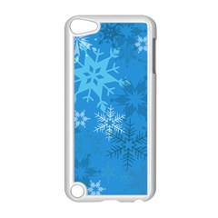 Snowflakes Cool Blue Star Apple Ipod Touch 5 Case (white) by Mariart