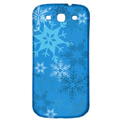 Snowflakes Cool Blue Star Samsung Galaxy S3 S Iii Classic Hardshell Back Case by Mariart