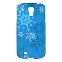 Snowflakes Cool Blue Star Samsung Galaxy S4 I9500/i9505 Hardshell Case by Mariart