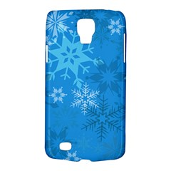 Snowflakes Cool Blue Star Galaxy S4 Active by Mariart