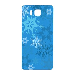 Snowflakes Cool Blue Star Samsung Galaxy Alpha Hardshell Back Case by Mariart