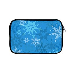 Snowflakes Cool Blue Star Apple Macbook Pro 13  Zipper Case by Mariart