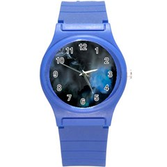 Space Star Blue Sky Round Plastic Sport Watch (s)