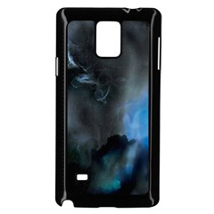 Space Star Blue Sky Samsung Galaxy Note 4 Case (black) by Mariart