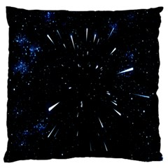 Space Warp Speed Hyperspace Through Starfield Nebula Space Star Line Light Hole Large Cushion Case (two Sides) by Mariart