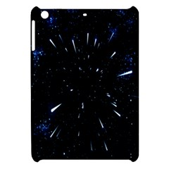 Space Warp Speed Hyperspace Through Starfield Nebula Space Star Line Light Hole Apple Ipad Mini Hardshell Case by Mariart