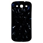 Space Warp Speed Hyperspace Through Starfield Nebula Space Star Line Light Hole Samsung Galaxy S3 S III Classic Hardshell Back Case Front