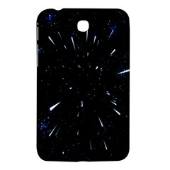 Space Warp Speed Hyperspace Through Starfield Nebula Space Star Line Light Hole Samsung Galaxy Tab 3 (7 ) P3200 Hardshell Case  by Mariart