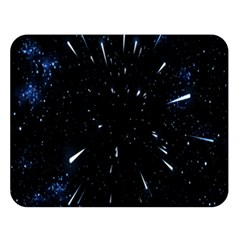 Space Warp Speed Hyperspace Through Starfield Nebula Space Star Line Light Hole Double Sided Flano Blanket (large)  by Mariart