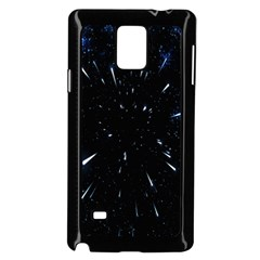 Space Warp Speed Hyperspace Through Starfield Nebula Space Star Line Light Hole Samsung Galaxy Note 4 Case (black) by Mariart