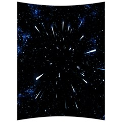 Space Warp Speed Hyperspace Through Starfield Nebula Space Star Line Light Hole Back Support Cushion by Mariart