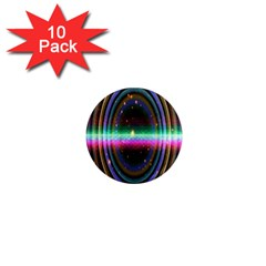 Spectrum Space Line Rainbow Hole 1  Mini Magnet (10 Pack)  by Mariart