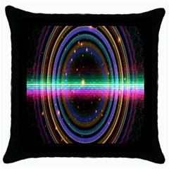 Spectrum Space Line Rainbow Hole Throw Pillow Case (black) by Mariart