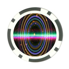 Spectrum Space Line Rainbow Hole Poker Chip Card Guard