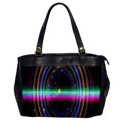 Spectrum Space Line Rainbow Hole Office Handbags by Mariart