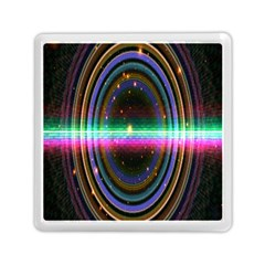 Spectrum Space Line Rainbow Hole Memory Card Reader (square)  by Mariart