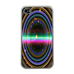 Spectrum Space Line Rainbow Hole Apple Iphone 4 Case (clear) by Mariart